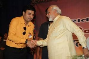 Mukhtar Shah with narendra modi